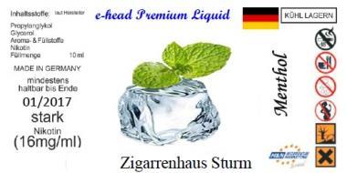 Menthol Sturm Liquid by e-head