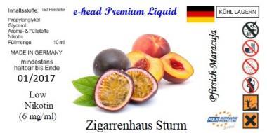 Pfirsich Maracuja Sturm Liquid by e-head