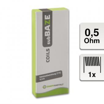 E-Cleromizercoil DAMPFANSTALT subBaze 0,5 Ohm 5 Stück